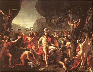 Jacques-Louis David/Leonidas at Thermopylae